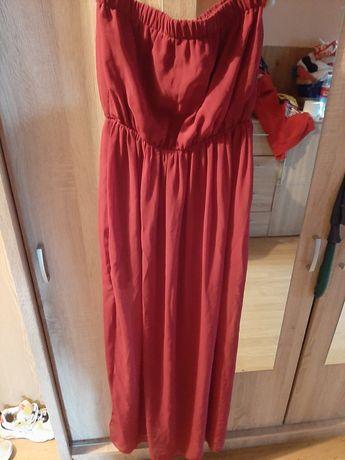 Długa  suknia czerwona