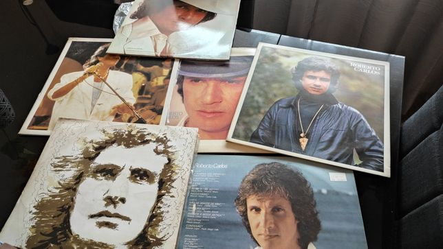 Excelente colectânea em vinil do Rei Roberto Carlos.,6 álbuns