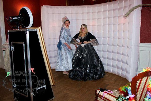 Magiczne Lusterko, Selfie Mirror dmuchana fotobudka, ścianka led