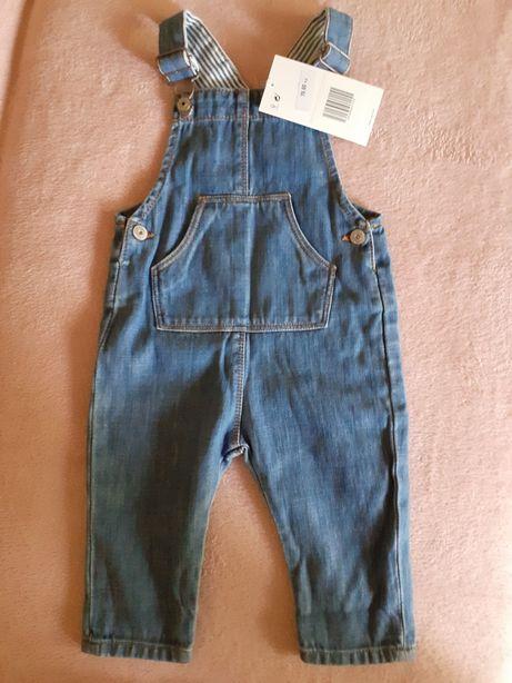 ZARA spodnie ogrodniczki 9-12 miesięcy 80 cm