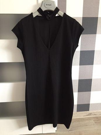 Mała czarna sukienka z chokerem River Island