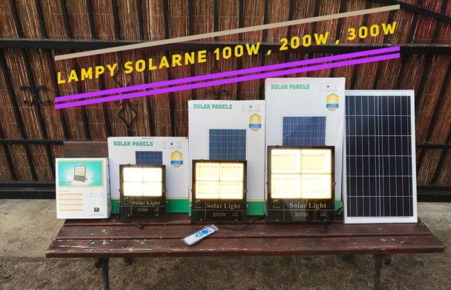 Lampy Solarne z Osobnym Panelem Słonecznym 30,60,100,200,300W Latarnia