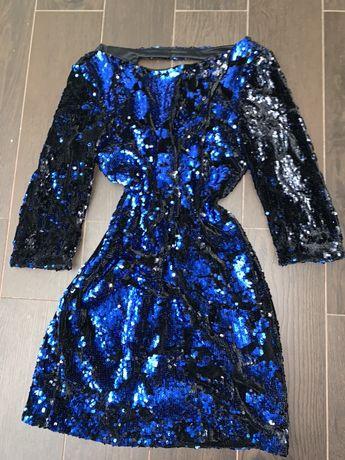 Платье в пайетках. Бархатное