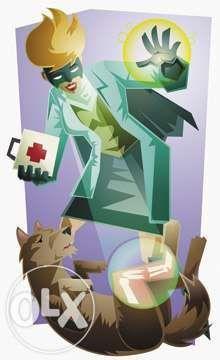 Ветеринарная помощь, стрижка, кастрация котов, кобелей. Зоотакси