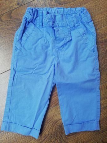 Spodnie chłopięce błękitne rozmiar 74