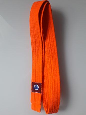 Pomarańczowy pas do kimona