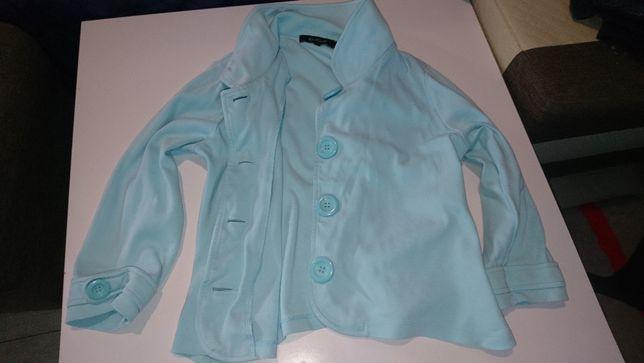 płaszczyk wiosenny dresowy błękitny r 134