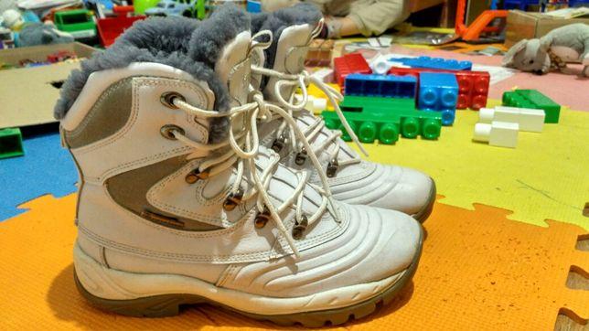 Зимові шкіряні фірмові чоботи restime сапоги ботинки