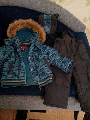 Детский комбинезон KIKO (куртка, штаны, сумка) зима, размер 98