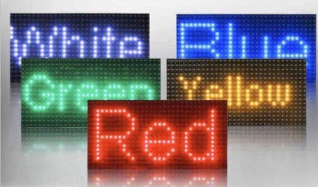 Бегущая строка, LED эканы, модули Р5/Р10, контроллеры, блоки питания