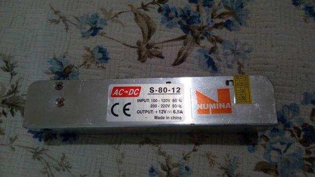 Блок питания 12V 6.5A, S80-12