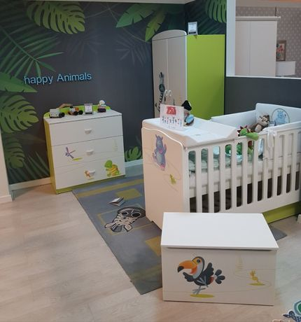 Po ekspozycyjny zestaw mebli dziecięcych Happy Animals Green - Meblik