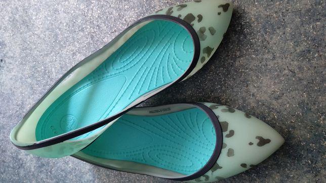 Балетки лодочки Crocs Rio Leopard Fade Flat