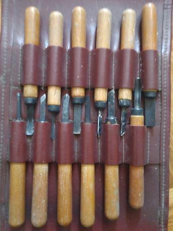 Набор штихелей для микрорезьбы, гравюры СССР. Резцы по дереву, металлу