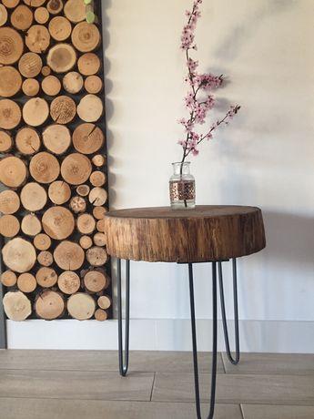 Stolik drewniany blat