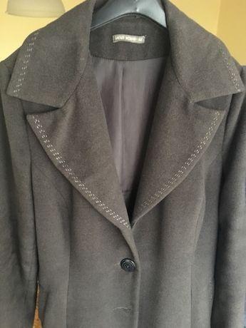 Szary płaszcz Safari r. 42/44- 60% wełna