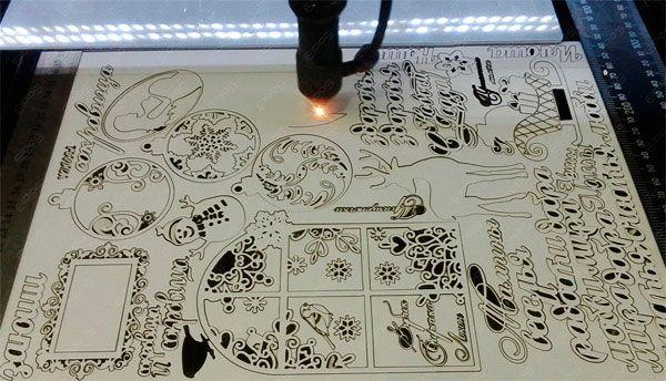 Лазерная резка фанеры, МДФ, дерева, оргстекла; Лазерна порізка
