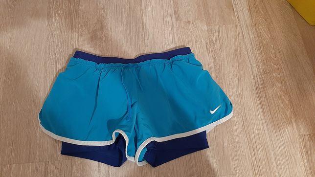 Nike M do biegania ćwiczeń spodenki z getrami 2w1