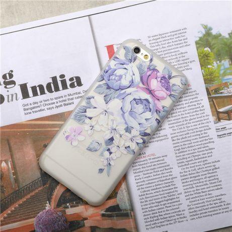 Etui Matowe Case Pokrowiec do Apple iPhone 7 Plus Kwiaty Różne Wzory