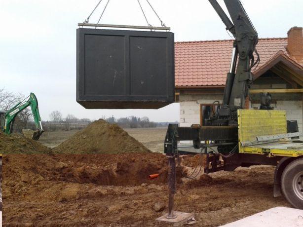 Szamba Betonowe szambo kompleksowo koparka montaż gwarancja Polska