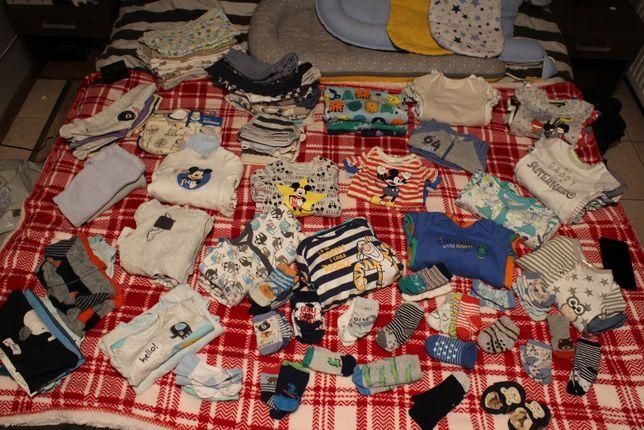 Duży zestaw ubranek (ponad 120 rzeczy), wyprawka dla noworodka + grati