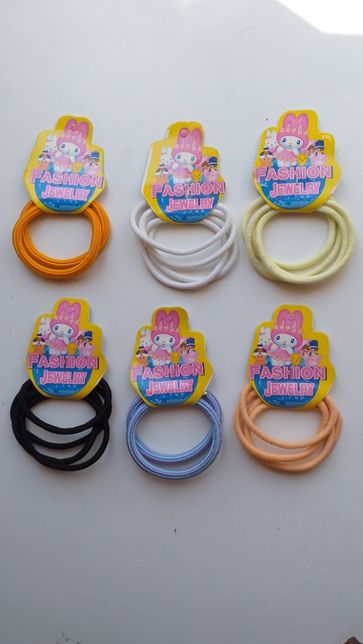 6 conjuntos elásticos cabelo Fashion Jewerly - novos - oferta portes