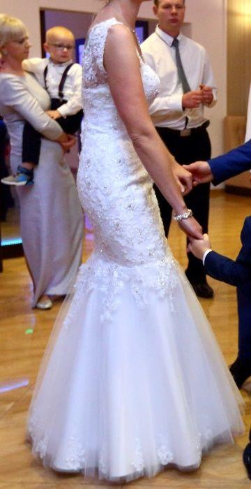 Suknia sukienka biała ślubna weselna syrena Kadzidło - image 1