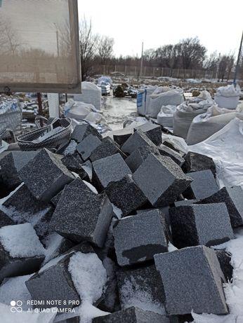 Продам гранитную брусчатку всех украинских карьеров