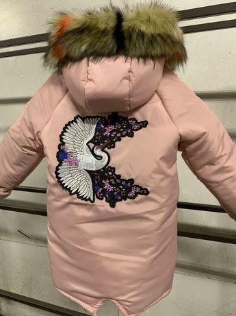 Подростковая куртка-пальто на девочку