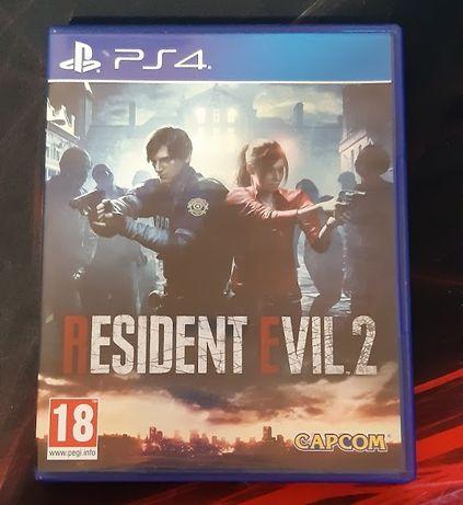 Диск Resident Evil 2 на PlayStation 4