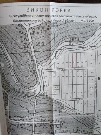 Продам земельну ділянку під забудову в селі Мирівка 0.2406 га