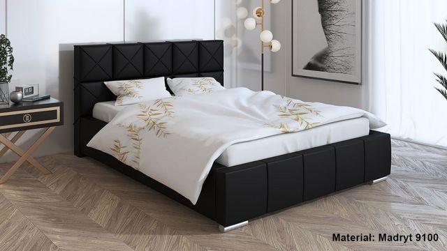 Łóżko tapicerowane LIZBONA 180x200 - stelaż drewniany + pojemnik
