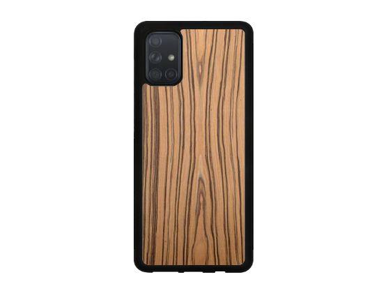 Drewniane Etui Case Samsung Galaxy A71 + Szkło
