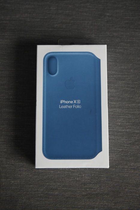 Etui iPhone Xs Leather Folio nowe, nieużywane, niebieskie!
