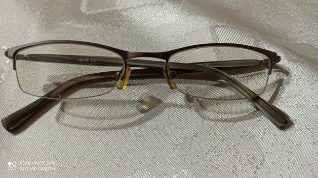 Oprawki okularowe srebrne damskie