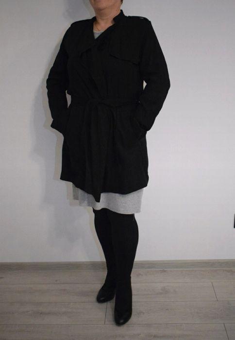 Płaszcz czarny trencz szlafrokowy H&M nowy płaszczyk 42 L/XL/Xxl Bydgoszcz - image 1
