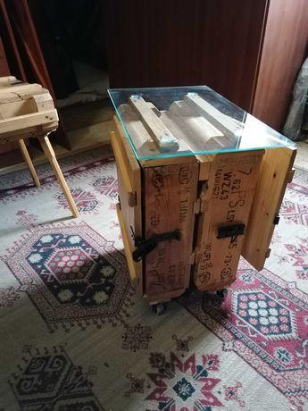 Barek, stolik, organizer, kółka