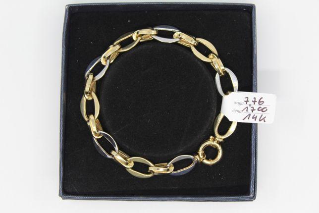 Złoto/Złota bransoletka 585 14K 7,76 gram Nowa Okazja