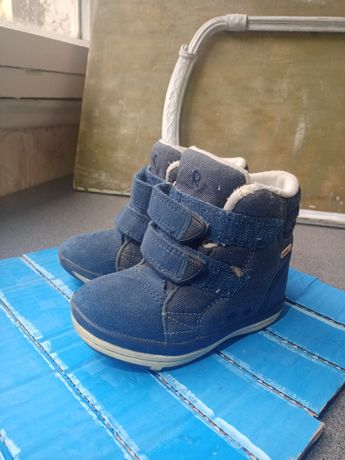 Сапоги детские, зимние ботинки reima, рейма, синие, сапожки