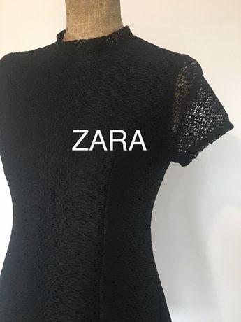 Sukienka Zara L koronka czarna