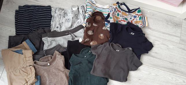 Zestaw 14 szt 74 body spodnie reserved h&m primark bawełna organiczna