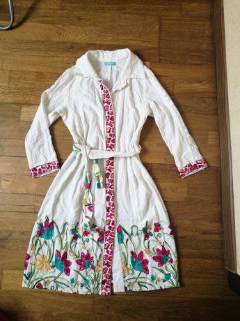 Льняное платье рубашка с вышивкой Zephyros