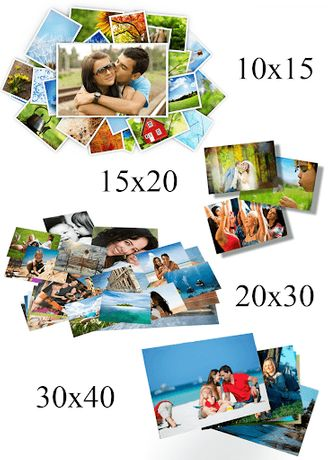 Печать фотографий от размера 10х15 до 40х60(не дорого)