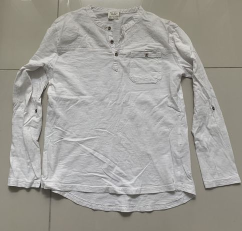 Bluzka ZARA rozmiar 134/140 guziki długi rękaw biała