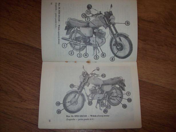 Motocykl MZ ETZ 125, 150-fabryczna instrukcja obsługi -j. polski