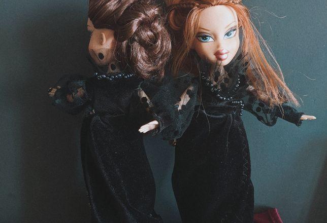 Винтажное бархатное платье для кукол Bratz, Brats, Братз, Братс MGA