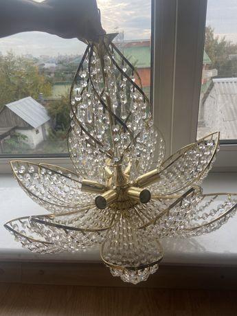 Люстра люкс из чешкского хрусталя