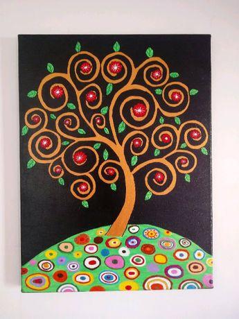 Magiczne drzewo.Akryl.