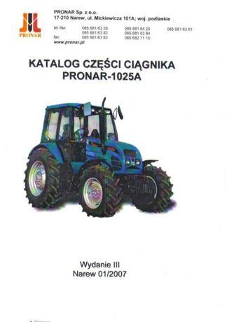 Katalog części PRONAR 1025A 1025 A