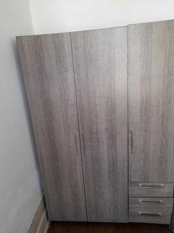 Roupeiro L120 x A180 x P50, Cinzento, 3 Portas